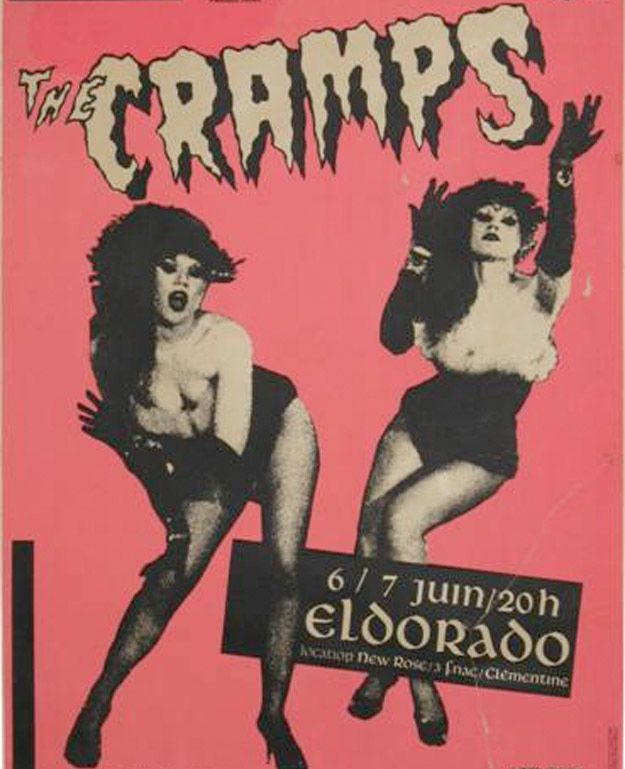 I love the Cramps and their style of using cartoon-like imagery within punk and that really cool juxtaposition it creates with the faded grunge-vintage-like photographs.
