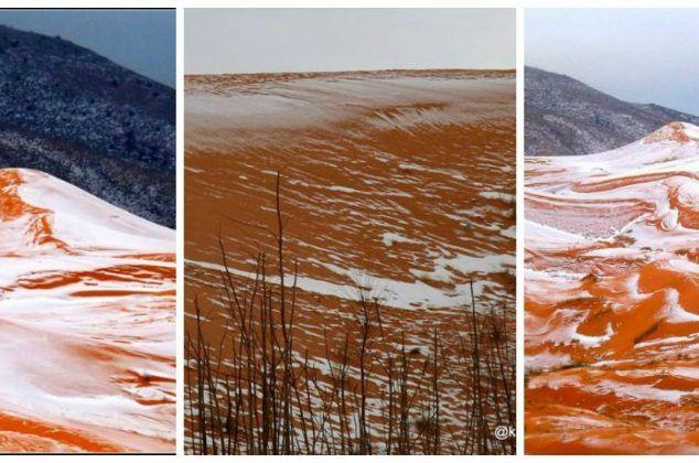 Λευκά Χριστούγεννα στη Σαχάρα! Δείτε τις εκπληκτικές φωτογραφίες!
