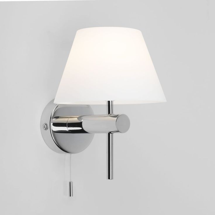 Roma Switched Wall Light in Polished Chrome