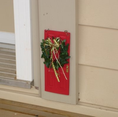 A fairy door needs a little christmas spirit too for The little fairy door
