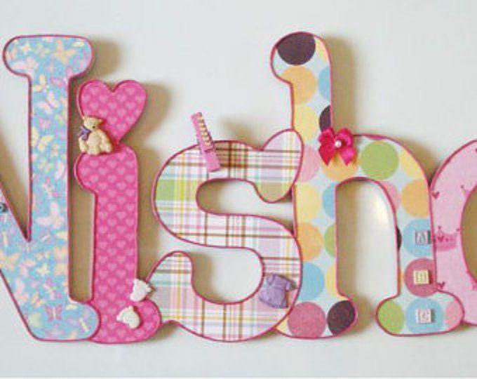 Bei nomi in legno per bambini (5 lettere)