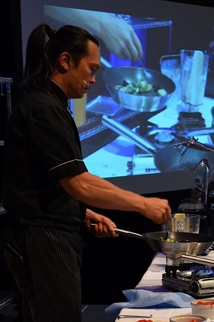 Chef Susur Lee in action.