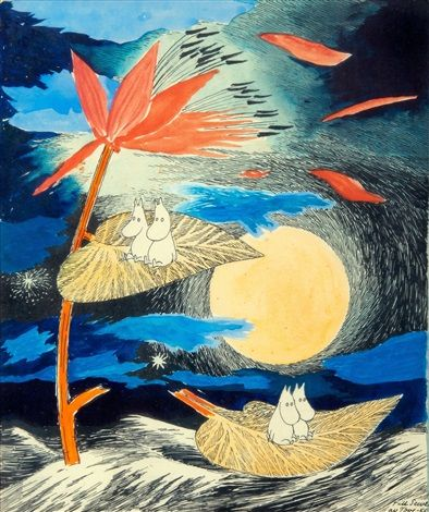 Travelling moomins by Tove Jansson