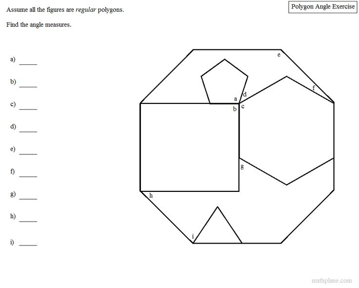 Assuming all the figures are regular polygons, can you