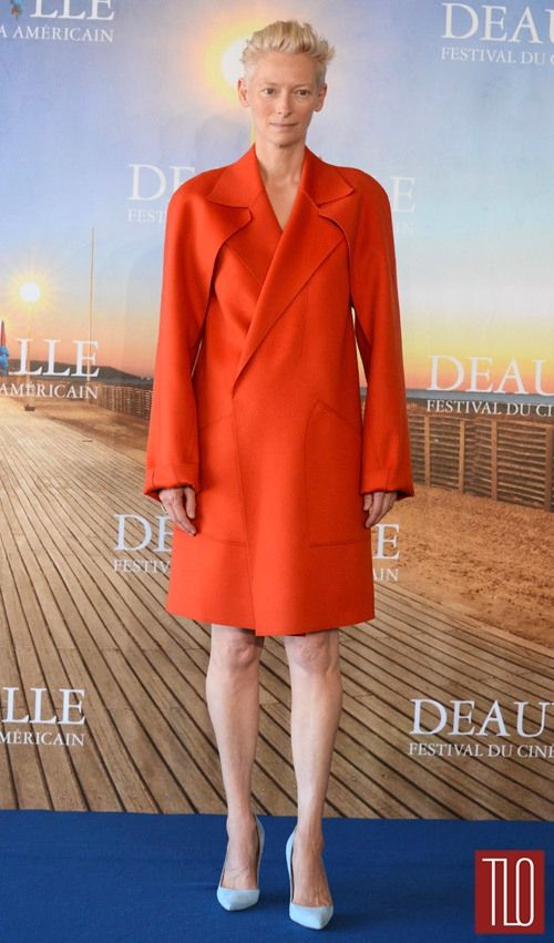 """Tilda Swinton attends the photocall for """"Snowpiercer"""" during the 2013 Deauville Film Festival in Deauville, France."""