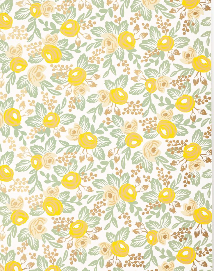 yellow floral pattern - photo #35