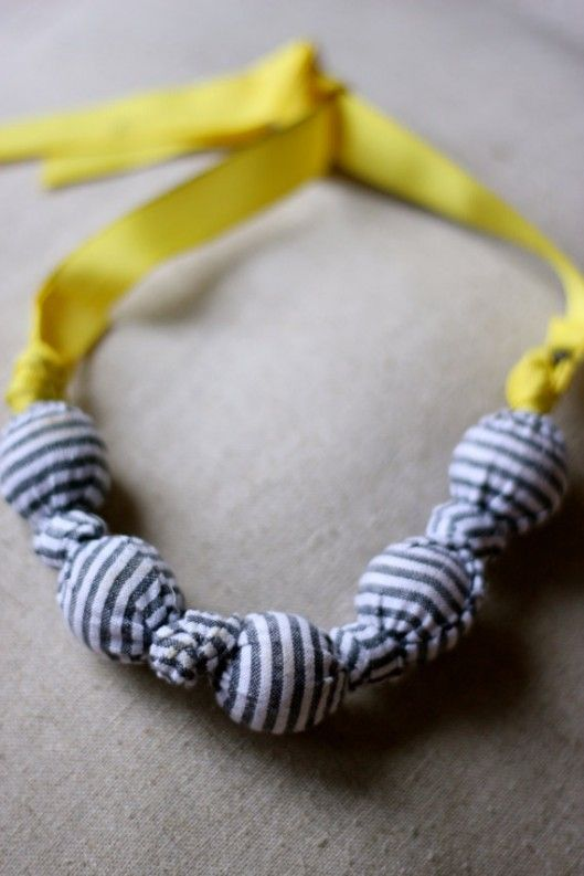 fabric wrapped necklace
