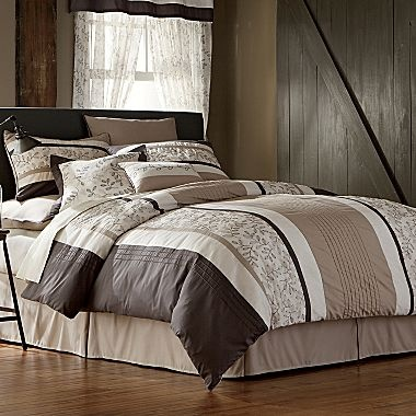 Ls Embroidered Leaves 20 Piece Comforter Set Jcpenney House Pinterest Ideas Leaves And