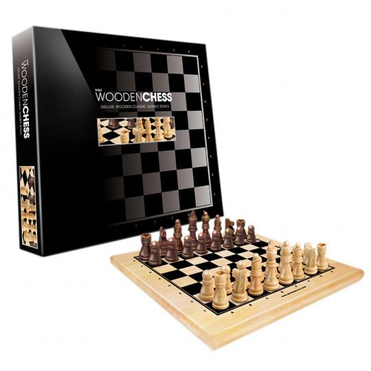 Wooden Chess Set 30cm - Top Gifts Adults - Top Gifts | Australian Geographic Shop Online