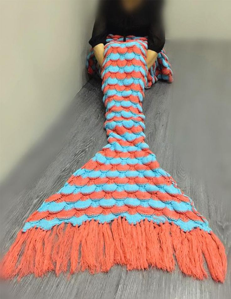This Mermaid Tail Blanket is perfect for snuggling with family while watching television. Its lightweight design makes it ideal for storage.Stay warm and cozy all year long with this Crochet Tail Merm