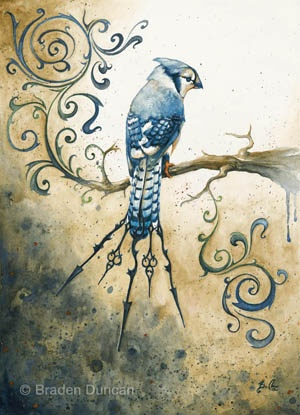 Steam Punk Bluejay, by Braden Duncan