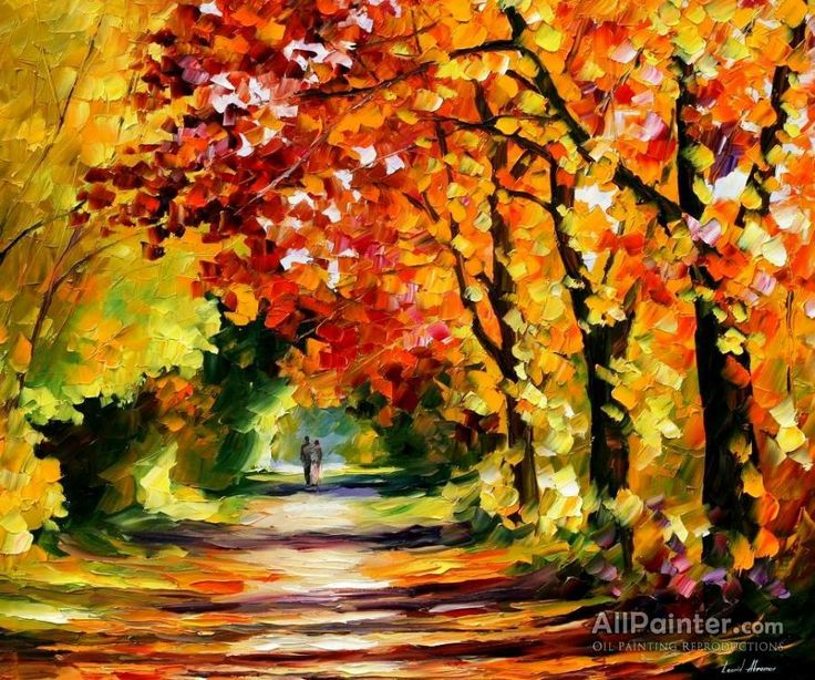 Leonid Afremov Sunny Path oil painting reproductions for sale