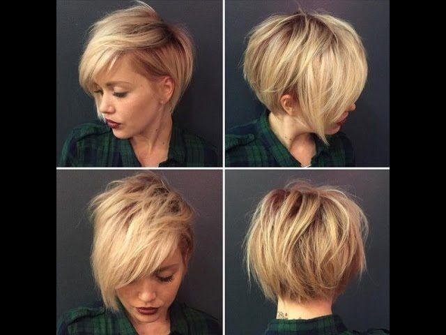 Красивая женская стрижка на короткие волосы|Стрижка градуированный боб с косой челкой