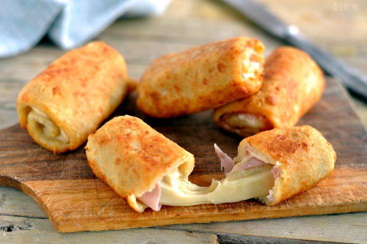 Rotolini di patate con prosciutto cotto e formaggio