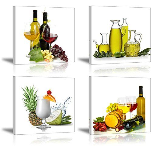 SZ HD Wall Decor For Dinning Room/Kitchen, Wine And Fruit.