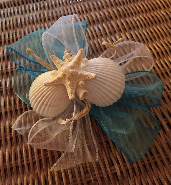 Corsages seashell by XOBOUQUETS on Etsy