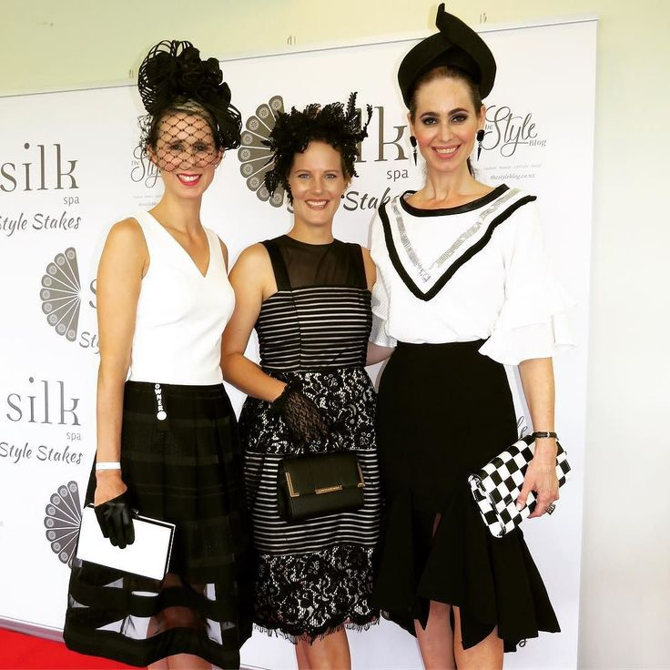 Three stunning Styles Stakes entrants @toni_thomson @sherierebecca and @elizabethcharleston stunning in their Derby Day themed outfits