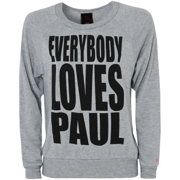 Pauls Boutique Everybody Loves Paul Sweater ($31) found on Polyvore