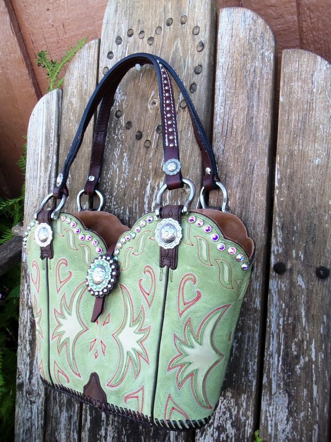 purses made out of old cowboy boots!