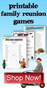 Family Games for Gatherings, Reunions and Parties