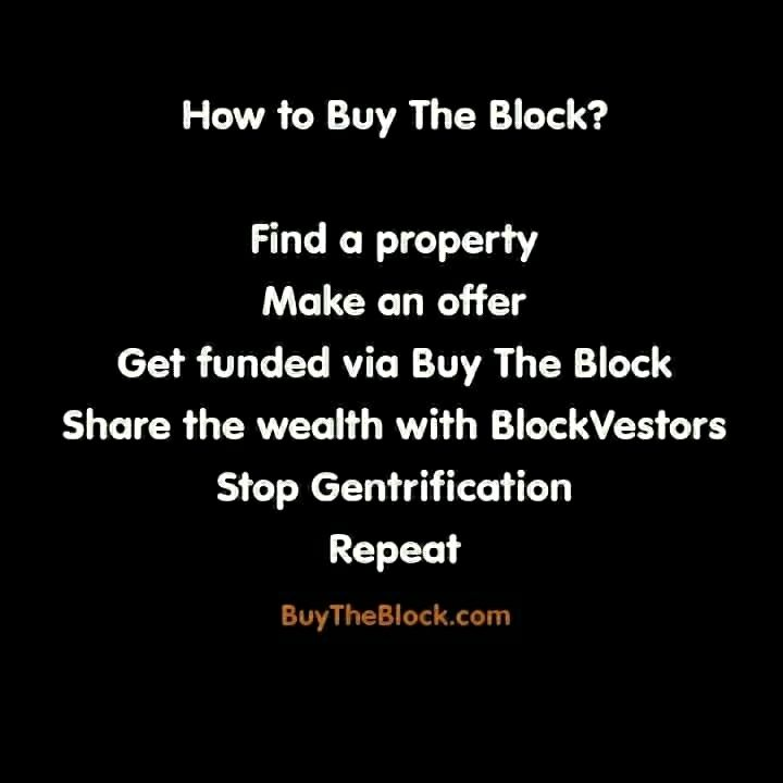 MEMBERS OF THE BLACK COMMUNITY RALLY TOGETHER TO 'BUY BACK THE BLOCK'– CHALLENGING THE STATUS QUO https://www.bbnomics.com/program-showing-black-community-buy-back-block-one-investment-time/?utm_content=buffer44f83&utm_medium=social&utm_source=pinterest.com&utm_campaign=buffer #BUYTHEBLOCK