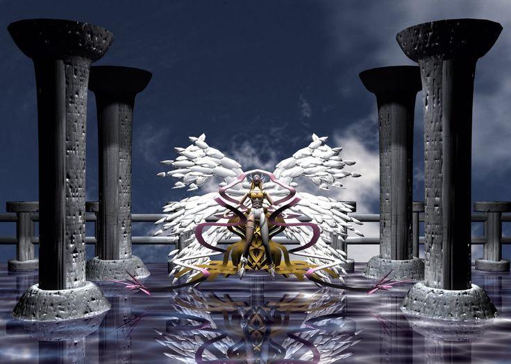 Angewomon 3D by ~SparkusThunderbolt on deviantART