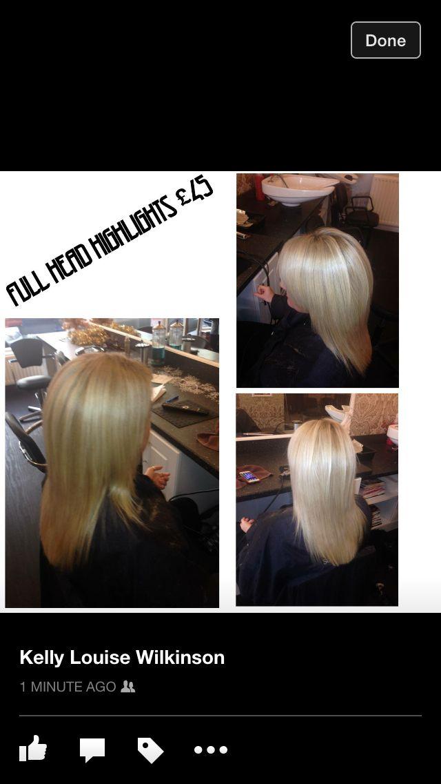 Full head foils £45 including Cut & Blowdry +44 7787 048578