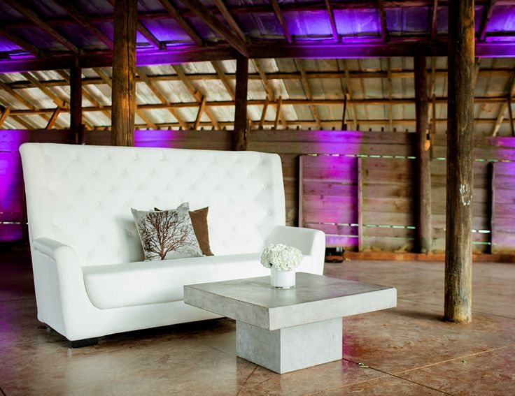 Lounge Seating For Themed Event | White Highback Sofa | Shag Carpet Prop  Rentals | Dallas