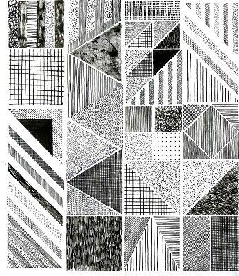 Hannah Waldron monochrome print.