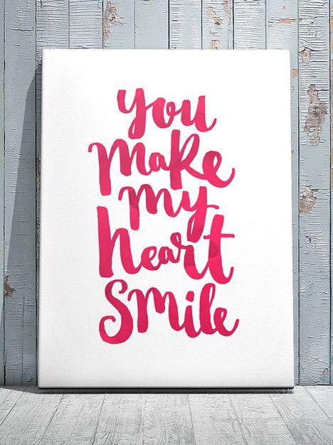 Art Print - You make my heart smile