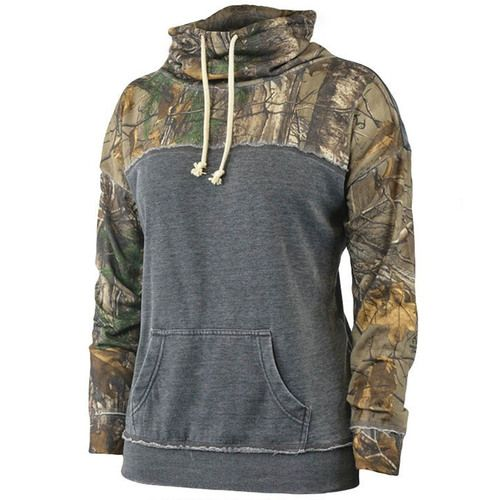 This Realtree Women's Xtra Camo Funnel Neck Vintage Fleece Pullover is made for being out in the woods Hunting or Everyday Wear. It is lightweight, loose cut, 55% Cotton Fleece, 45% Polyester, Vintage Wash, Funnel Neck, Mid weight for comfort and style.
