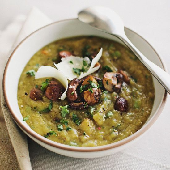 Split-Pea Soup with Portobellos | 29 Soups So Good They'll Make You Want To Stay In And Cook