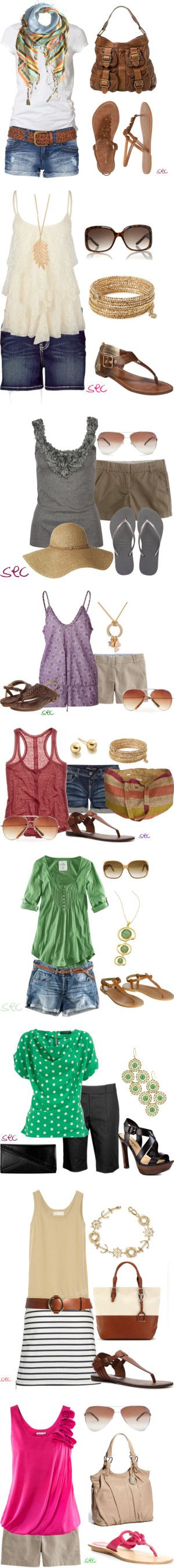 Cute, casual summer #outfit ideas from Polyvore user coombsie24!