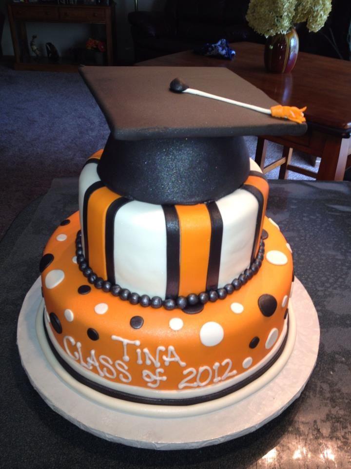 orange and black graduation cake | 18th Bday & 2013 Grad ...