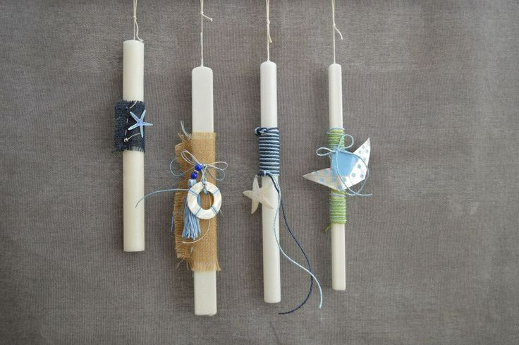 Candle decorations for the Greek Easter