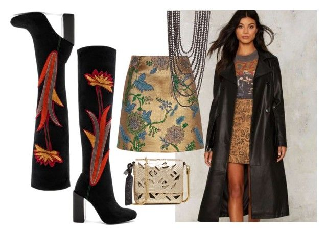 Stick With The Gold by querriida on Polyvore featuring Nasty Gal, River Island, Jeffrey Campbell, Kenzo and New Directions