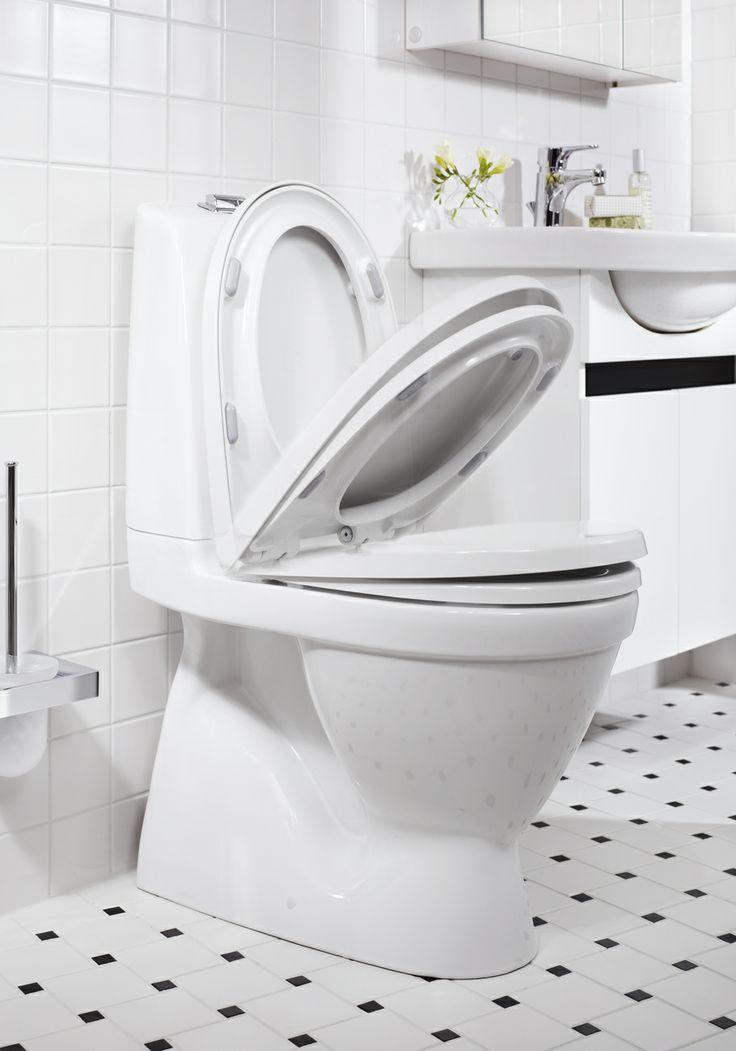 Toalettstol från Nautic. Städvänlig och minimalistisk design | GUSTAVSBERG
