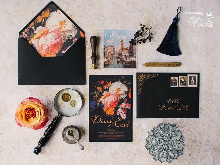 """Intense Renaissance"" Wedding Invitation"