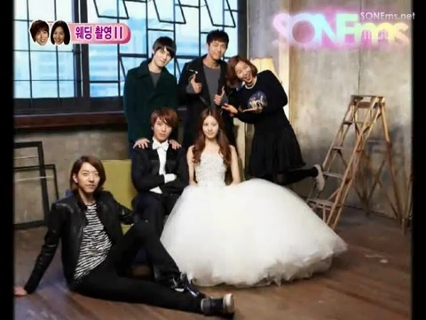 Wedding Photo together with CN BLue members and Host from WGM <3 Watch Goguma Couple Again @ http://wgmhammer.blogspot.com/2014/07/wgm-goguma-couple-eng-sub.html