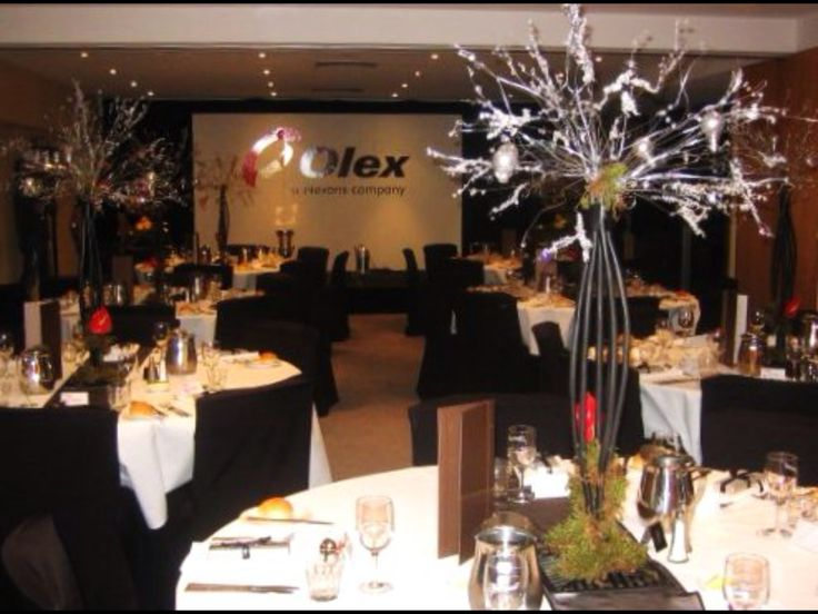 Custom made centrepieces made from cables for Olex by www.newminsterfunctiondesign.com