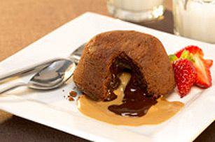 Gâteaux fondants au chocolat et au beurre d'arachide