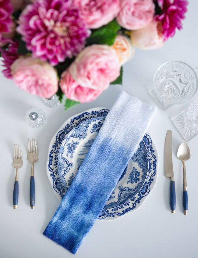 / Pin curated by Pretty Planner Weddings & Events www.prettyplannerweddings.com / indigo dip dyed napkin