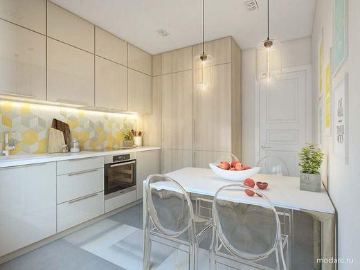 """2-комнатная квартира для молодой девушки в ЖК """"Стерхи"""" в Новом Уренгое. Кухня"""