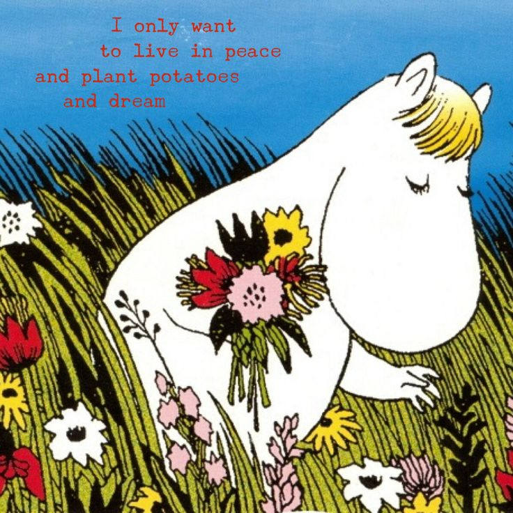 This moomin's got the right idea.