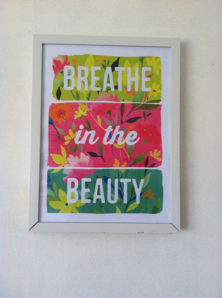 Always breathe in the beauty. This was the portrait inside our room in the resort, Casa Almarenzo, Bolinao, Pangasinan. :)