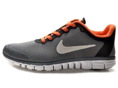 Il Nike Free 3.0 Grigio Scuro Scarpe Da Corsa Per Gli Uomini Rosso Nero con Lo Sconto