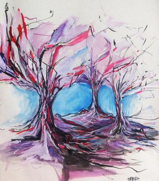 The Trees (2014) Mixed Media on paper 349 x 490 mm $300