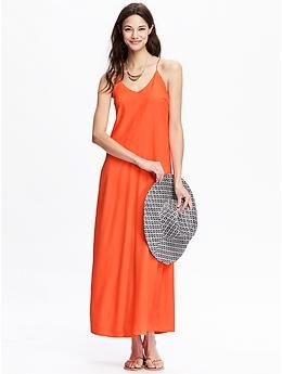 Women's Matte-Crepe Maxi Dresses | Old Navy