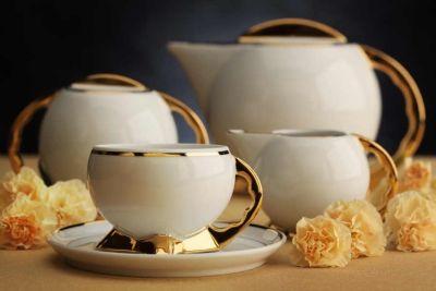 Ćmielów Porcelain - replica of art deco coffee set.