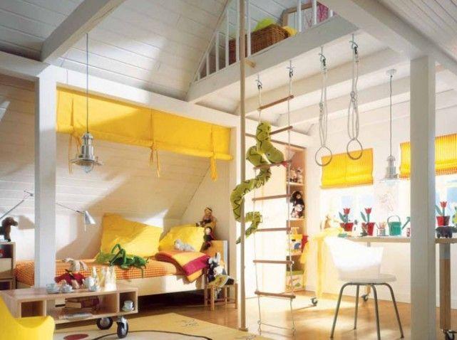 chambre enfant sous les toits